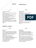 Recital Line Up 2013