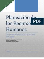 Planeacion de Los Recursos Humanos