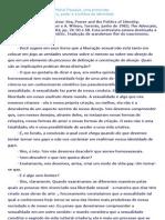 Michel Foucault.sexualidade, Homossexualidade e Amizade