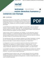 23-05-13 Senadoras evaluan convenios de DH y  comercio con Europa - el confidencial