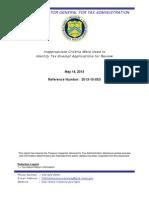 Treasury IRS IG Report