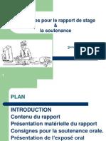 Consignes Rapport Et Soutenance