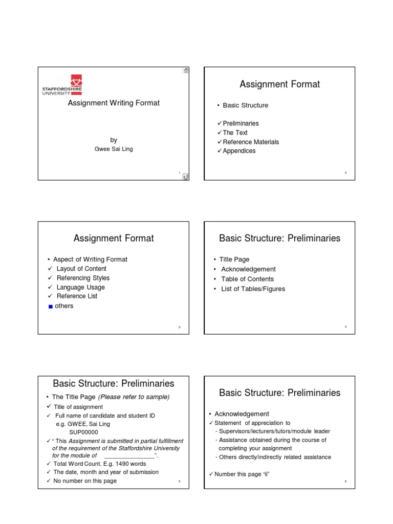 assignment writing format  text  printing
