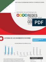 Reporte de redes sociales del CEIEG, marzo 2013