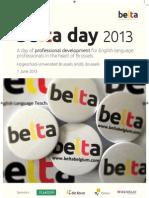 BELTA Day Programme 2013