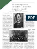 El clarinete en España desde 1800 hasta nuestros días (III), por Pedro Rubio Olivares