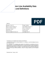 Transmission Line Availability Data Guidelines and Definitions