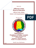 Jefferson County Board of Education Audit Oct. 2011 - Sept. 2012