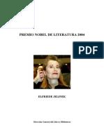 Jelinek Premio Nobel de Literatura 2004