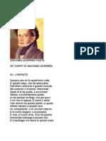 Giacomo Leopardi Poeta