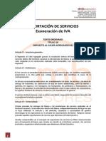 URUGUAY - EXPORTACIÓN DE SERVICIOS EXONERADOS IVA
