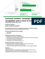 Organizing Roundtable Presentation on Massachusetts Comcast Victory