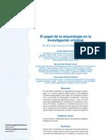 Marquez-grant Et Al. El Papel de La Arqueologia en La Investigacion Criminal