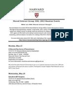 Harvard SIG Reunion Events
