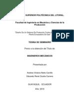 DISEÑO DE UN SISTEMA CONTRAINCENDIO EN UNA PLANTA ENVASADORA DE GLP