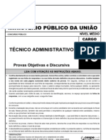 Cespe 2010 Mpu Tecnico Administrativo Prova