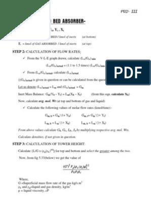 DESIGN OF PACKED BED ABSORBER COLUMN | Gases | Pressure