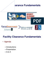Security & Facility Clearances - Government Contracting