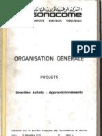 organisation générale. direction achats-approvisionnements