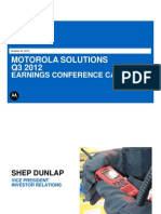 MSI - Q3 2012 Earnings Presentation
