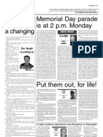 Memorial Day Parade is at 2 p.m. Monday