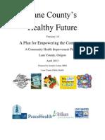 Lane County Health Future -- 2013 Community Health Improvement Plan (CHIP)
