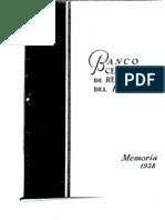 Memoria BCRP 1938