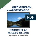 Boletin Oficial Edicion No 58 Marzo 2011