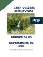 BOLETIN OFICIAL Nº 64 SEPTIEMBRE 2011