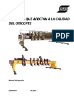 Oxy-Fuel Cutting Quality 0558006478 Spanish