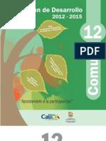 Plan de Desarrollo 2012 -2015 Comuna 12