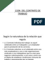 Clasificacion Del Contrato de Trabajo y Reglamentacion Legal Cto