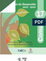 Plan de Desarrollo 2012 -2015 Comuna 17