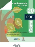 PLan de Desarrollo 2012 -2015 Comuna 20
