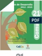 Plan de Desarrollo Comuna 21 2012-2015