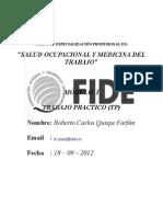 Roberto Quispe Farfán Trabajo Práctico I Salud Ocupacional I