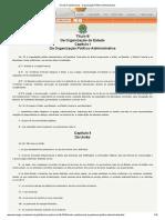 Direito Constitucional - Organização Político-Administrativa