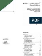 Analise Combinatoria e Probabilidade, Morgado, Pitombera, Paulo Cesar, Fernandez