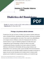 Concepto de Iluminismo-Horkheimer Adorno
