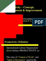1-Productivity – Concept, Measurement & Improvement