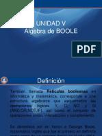 Unidad 5 - Algebra de Boole