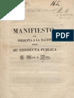 José María Pando. Manifiesto que presenta a la nación sobre su conducta pública D. José María de Pando. Caracas, 1827.