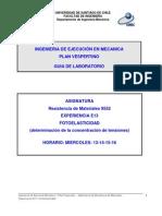 3.1- Determinación de K Mediante Fotoelasticidad
