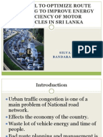 GIS Tool to Optimize Route Planning to Improve road management sri lanka