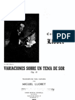 Llobet Variations on a Theme by Sor