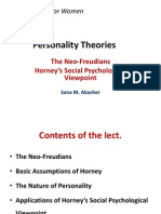 The Neo-Freudians theory of personality Horney.ppt
