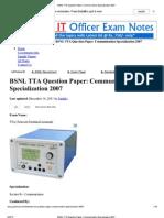 BSNL TTA Question Paper