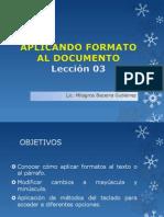 CLASE 03- APLICANDO FORMATO AL DOCUMENTO.pptx