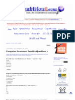 Computer Awareness Practice Questions 1