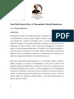 Juan Pablo Duarte Diez y El Pensamiento Liberal Dominicano